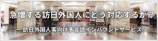 訪日外国人客向け多言語インバウンドサービス